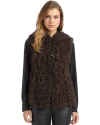Philosophy di Alberta Ferretti - Hooded Fur Vest - Lyst