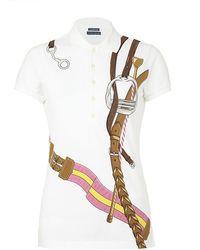 Ralph Lauren Blue Label - Equestrian Print Polo Shirt - Lyst