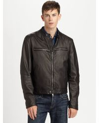 Burberry Brit Leather Motorcycle Jacket - Lyst