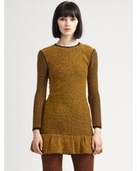 Burberry Prorsum Tweed cashmere Tunic - Lyst