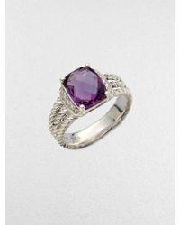 David Yurman - Diamond Accented Amethyst Cable Ring - Lyst