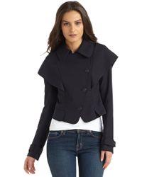 Hanii Y - Cropped Wool Jacket - Lyst
