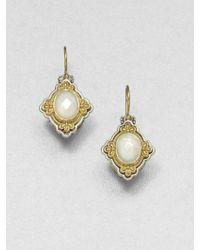 Konstantino - Selene Mother-of-pearl, 18k Yellow Gold & Sterling Silver Drop Earrings - Lyst