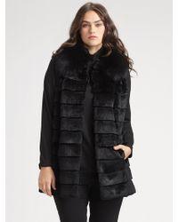 Lafayette 148 New York, Salon Z Razored Rabbit Fur Vest - Lyst