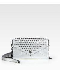 Rebecca Minkoff Studded Metallic Continental Wallet - Lyst