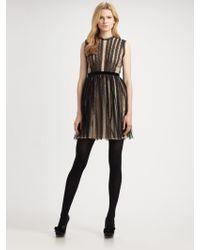 RED Valentino Silk Crepe De Chine Dress - Lyst