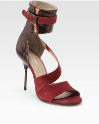 Surface To Air - Metallic Leather and Suede Sandals - Lyst