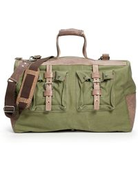 Will Leather Goods - Canvas and Leather Duffle Olive - Lyst