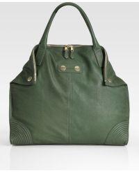 Alexander McQueen De Manta Large Leather Tote Bag - Lyst