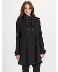 Burberry Wool-cashmere Swing Coat - Lyst