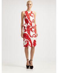Giambattista Valli Floral Peplum Dress - Lyst