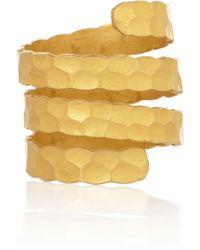 Halleh | Hammered 18karat Gold Coil Ring | Lyst