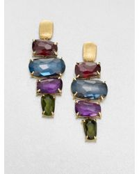 Marco Bicego - 18k Gold Semiprecious Multistone Drop Earrings - Lyst