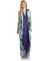 Roberto Cavalli Silk Butterfly Print Dress - Lyst