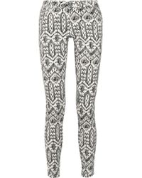 Sass & Bide - The Roll Over Ikatprint Skinny Jeans - Lyst