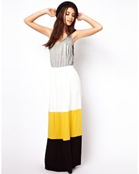 ASOS Collection Asos Maxi Skirt in Color Block - Lyst