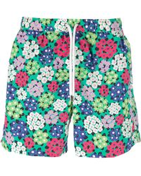 Aspesi Floral Print Swim Shorts - Lyst