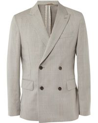 Our Legacy Unstructured Prince Of Wales Check Wool Suit Jacket - Lyst