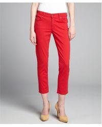 James Jeans Poppy Stretch Denim 'Twiggy' Cropped Skinny Jeans - Lyst
