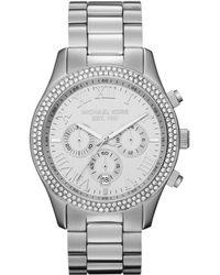 Michael Kors Midsize Layton Chronograph Glitz Watch - Lyst