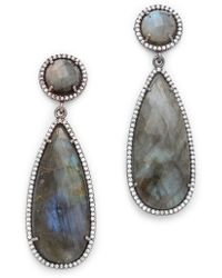 One By - Crown Double Drop Earrings - Lyst