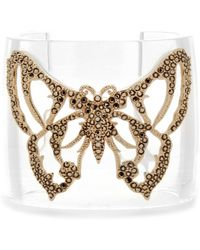 Valentino Butterfly Cuff Bracelet transparent - Lyst