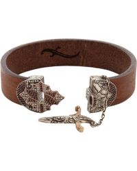 Sevan Biçakci - Leather Bracelet with Diamond Dagger Closure - Lyst
