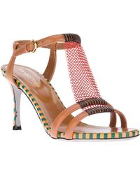 Sergio Rossi Chain Detail Sandal - Lyst