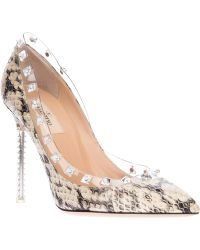 Valentino Pointed Toe Pump gray - Lyst