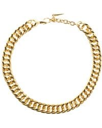 ASOS - Vintage Style Chain Necklace with Spike Extender - Lyst