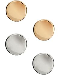 ASOS Collection Round Disc Stud Earrings - Lyst