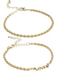 ASOS - Two Pack Love Bracelets - Lyst