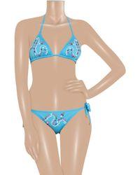 Babajaan - Tamara Embellished Triangle Bikini - Lyst