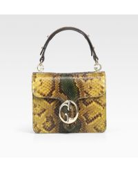 Gucci Python Small Top Handle Bag - Lyst