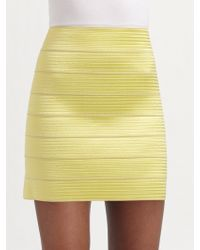 Pleasure Doing Business Pearlized Elastic Mini Skirt - Lyst