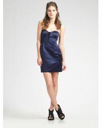 Rag & Bone Corset Strapless Mini Dress - Lyst
