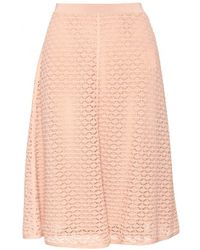 Valentino Lace Skirt pink - Lyst