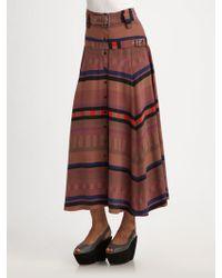 Vena Cava | Pj Silk Midi Skirt | Lyst