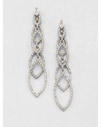 ABS By Allen Schwartz - Navette Linear Drop Earrings - Lyst