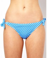 ASOS Collection Asos Gingham Bunny Tie Side Bikini Pant - Lyst