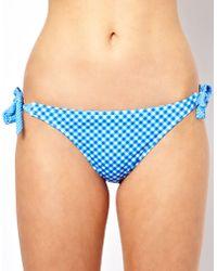 ASOS Collection Asos Gingham Bunny Tie Side Bikini Pant - Lyst