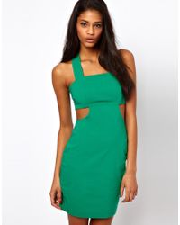 ASOS Collection | Bengaline Bodycon with Cut Out | Lyst