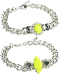 ASOS Collection Asos Double Stone Id Bracelets - Lyst