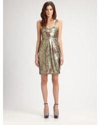 Burberry Prorsum Sequined Bustier Dress - Lyst