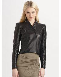 Helmut Lang Analog Leather Jacket - Lyst
