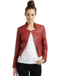 Improvd - Leather Jacketred - Lyst