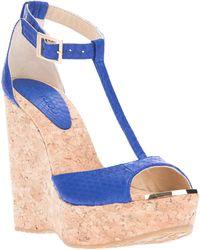 Jimmy Choo 'Pela' Sandals blue - Lyst