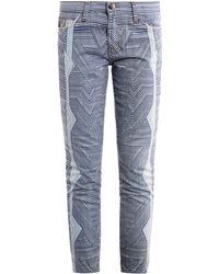Mary Katrantzou - Albatross Skinny Cropped Stretch-Denim Jeans - Lyst
