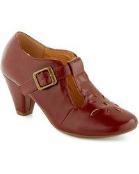 ModCloth Burst Of Style Heel in Burgundy - Lyst