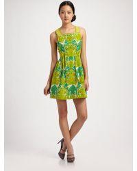 Nanette Lepore Dreamland Pintucked Printed Dress - Lyst